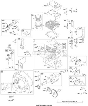 Briggs-Stratton Parts 496984 COVER-CRANKCA Briggs /& Stratton Engine BS-496984