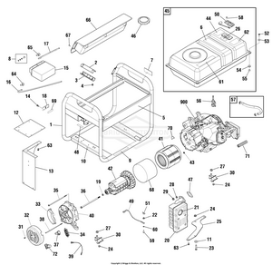 briggs and stratton generator wiring diagram 030470 02 briggs and stratton generator 7 000 watt partswarehouse  030470 02 briggs and stratton generator