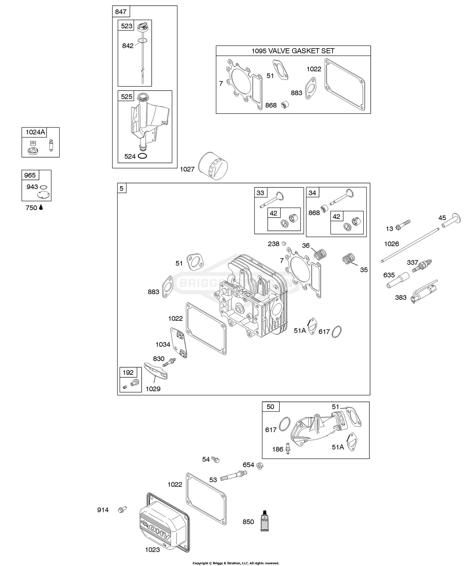 Cylinder Head, Gasket Set - Engine, Gasket Set - Valve, Intake Manifold,