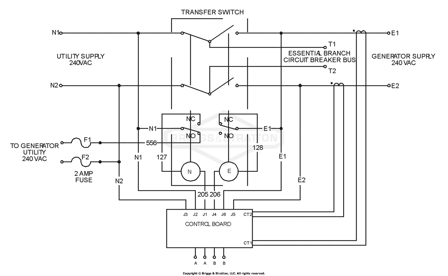 Wiring Schematic - Transfer Switch