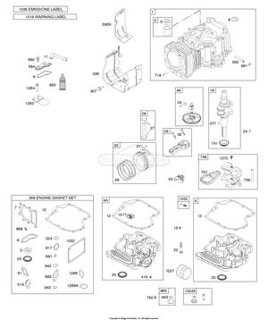briggs and stratton 31n707 3026 g5 camshaft crankshaft cylinder Cam and Follower Diagram camshaft crankshaft cylinder engine sump gasket set engine lubrication