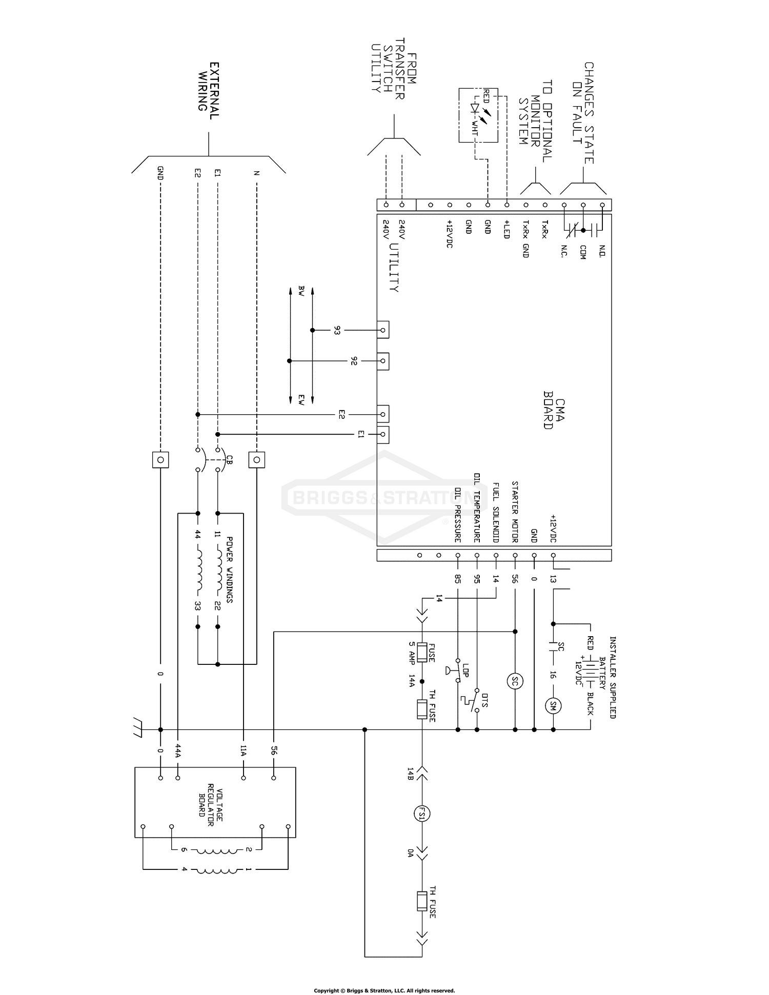 Wiring Schematic - Standby Generator