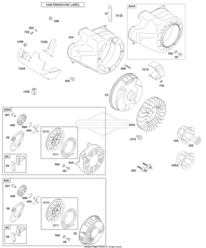 [WQZT_9871]  204412-0147-E1 Briggs and Stratton Engine | PartsWarehouse | 204412 Engine Diagram |  | Parts Warehouse