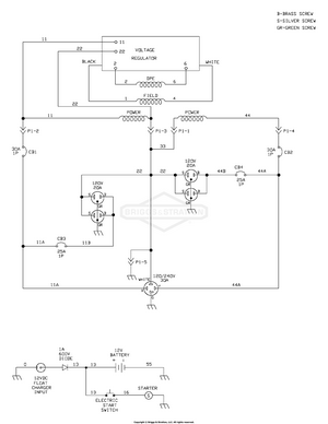 wiring schematic diagram parts list for model 421622bve snapper