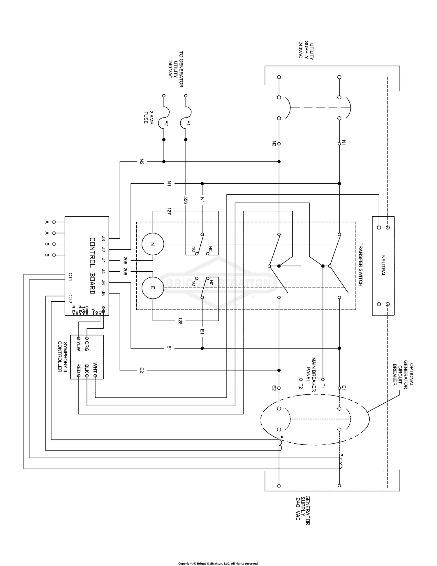 Transfer Switch - Wiring Schematic