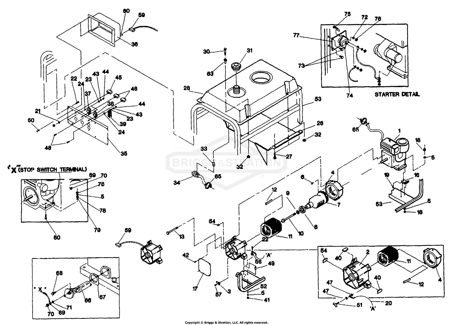 Briggs Amp Stratton Power Products Del 26072017021729 9799 1 65795gs Rectifier Wiring Diagram Svp 5000e Ac Generator 10 Hp Bs Electrical Start Engine No 92422