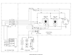 briggs and stratton generator wiring diagram 030677 00 briggs and stratton generator 5 000 watt partswarehouse  030677 00 briggs and stratton generator