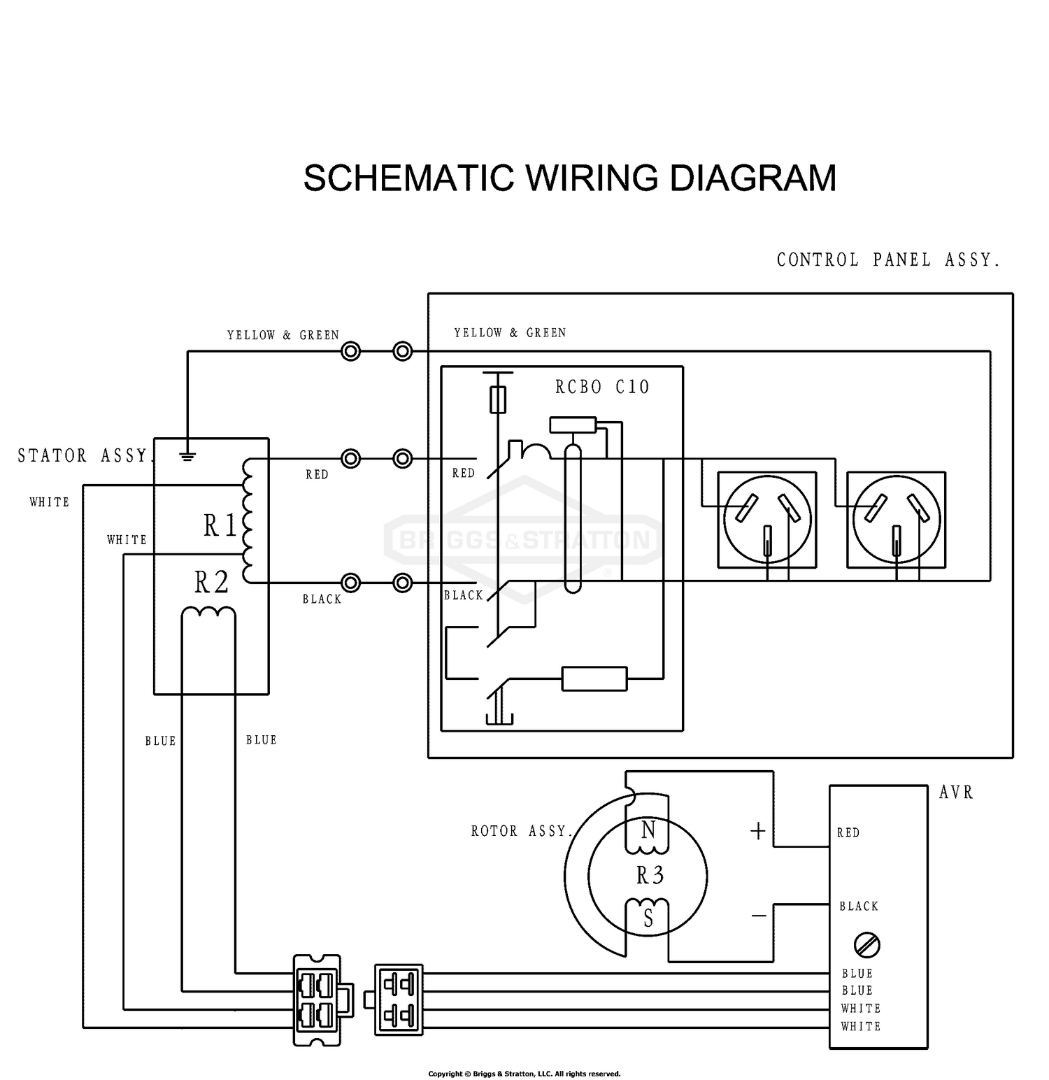 [NRIO_4796]   Briggs & Stratton Power Products_DEL_26072017021729 MGRP3527-00 -  ProMax 3500/2700 Electrical Schematic/Wiring Diagram (1760865) | Briggs Wiring Schematic |  | Weingartz
