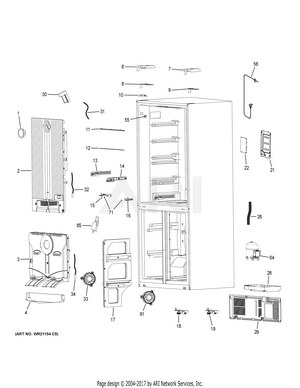 Haier HRQ16N3BGS Refrigerator - PartsWarehouse on