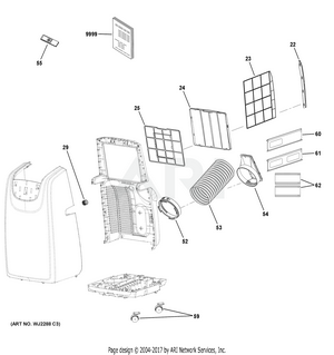 Portable A C Diagram And Parts List For Haier ... on