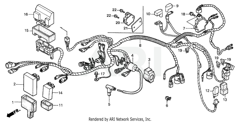 2000 Honda 450ES WIRE HARNESS FourTrax Foreman 450 ES TRX450 Parts Diagram:Bike Bandit
