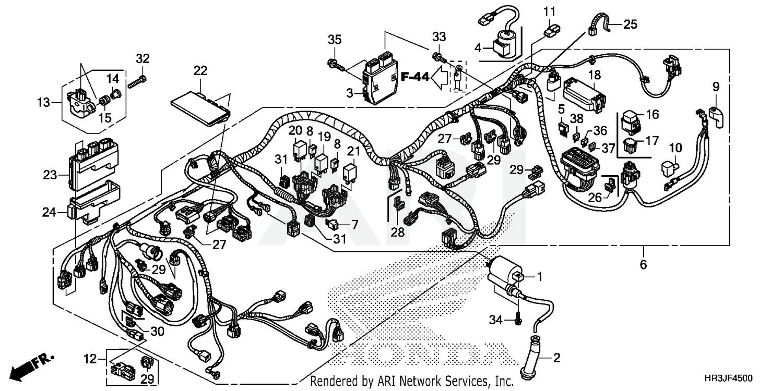 2018 Honda WIRE HARNESS TRX420FE1A- FourTrax Rancher Parts Diagram:Bike Bandit