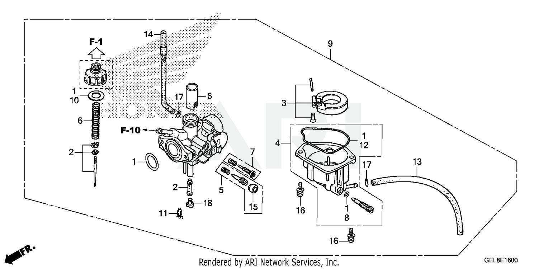 Honda CRF50F  Carb Repair Kit