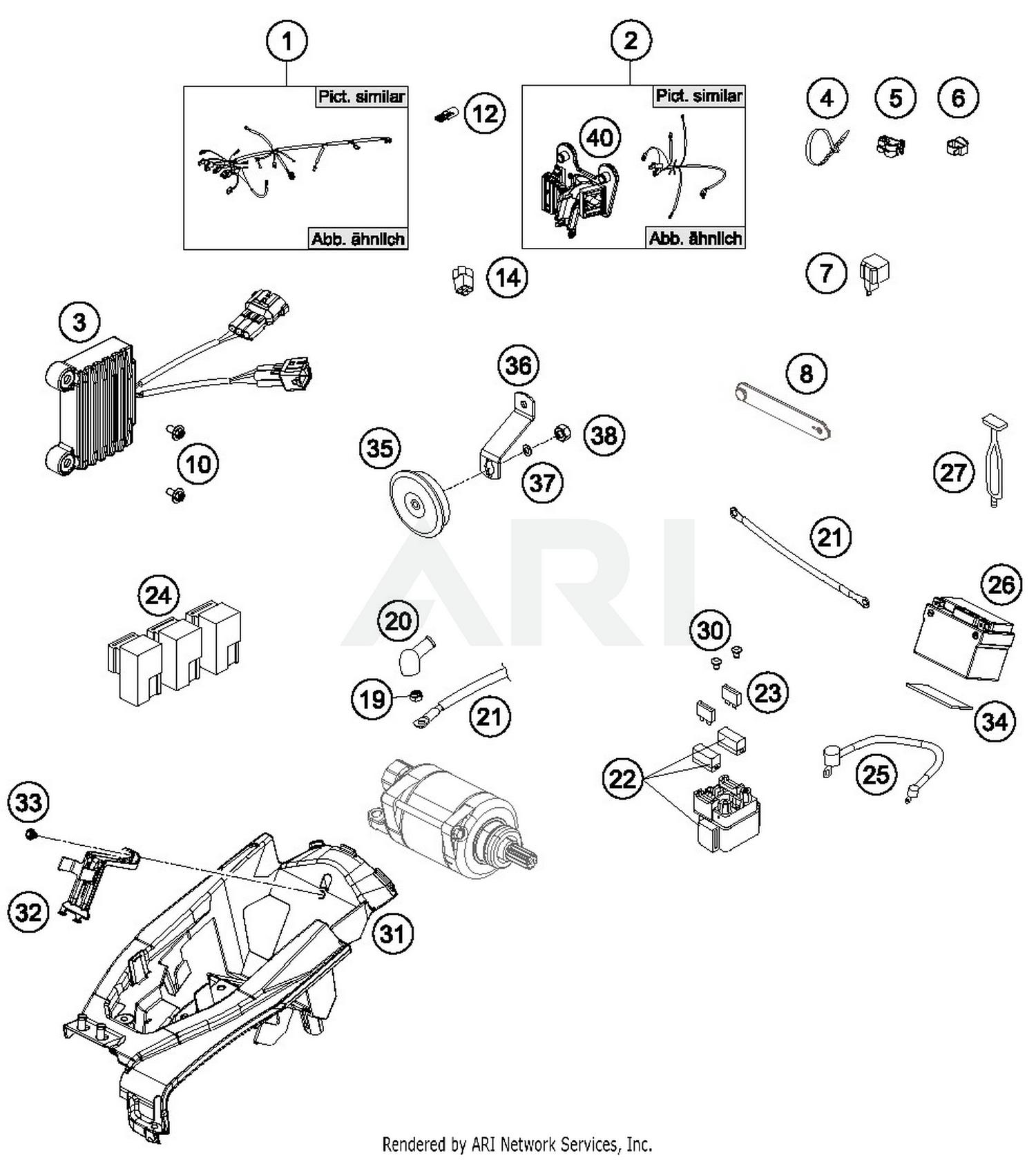 Wiring Diagram Husqvarna Motorcycles Schematic Diagrams Ayp Harness 2017 Fe 450 Parts Best Oem