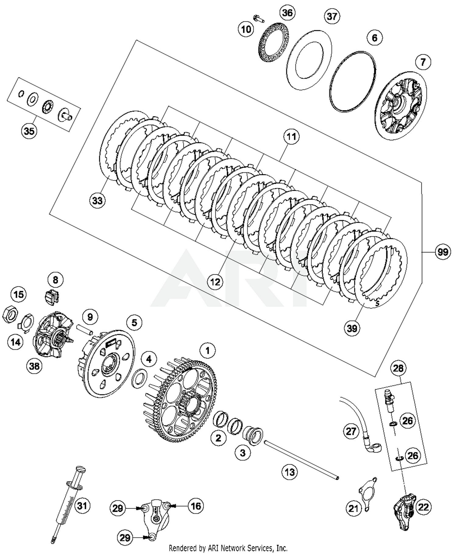 2017 husqvarna fe 501 clutch parts best oem clutch parts diagram rh bikebandit com Husaberg Fe 501 husqvarna fe 501 wiring diagram