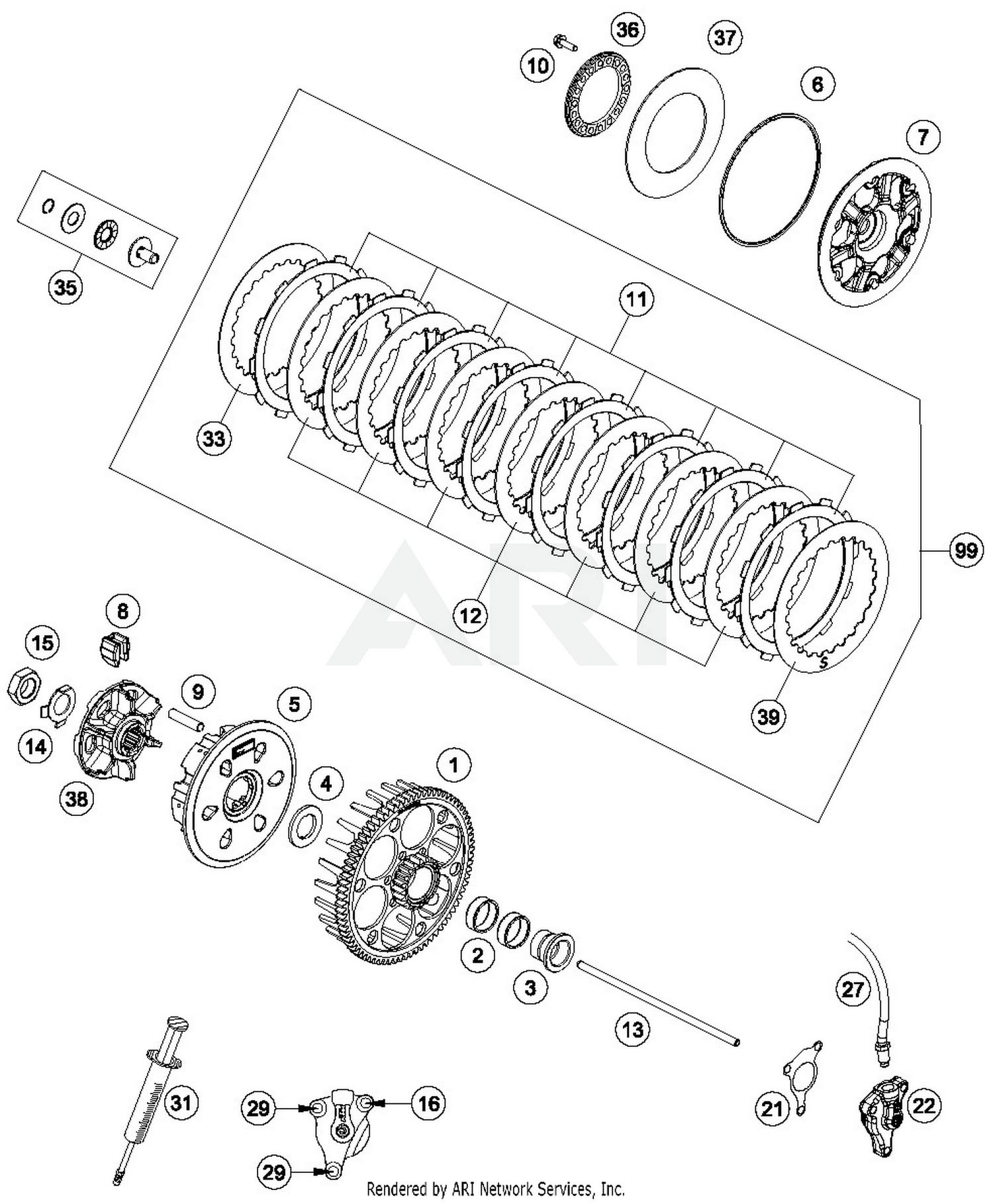 Max 2019 husqvarna fe 450 clutch parts best oem clutch parts diagram