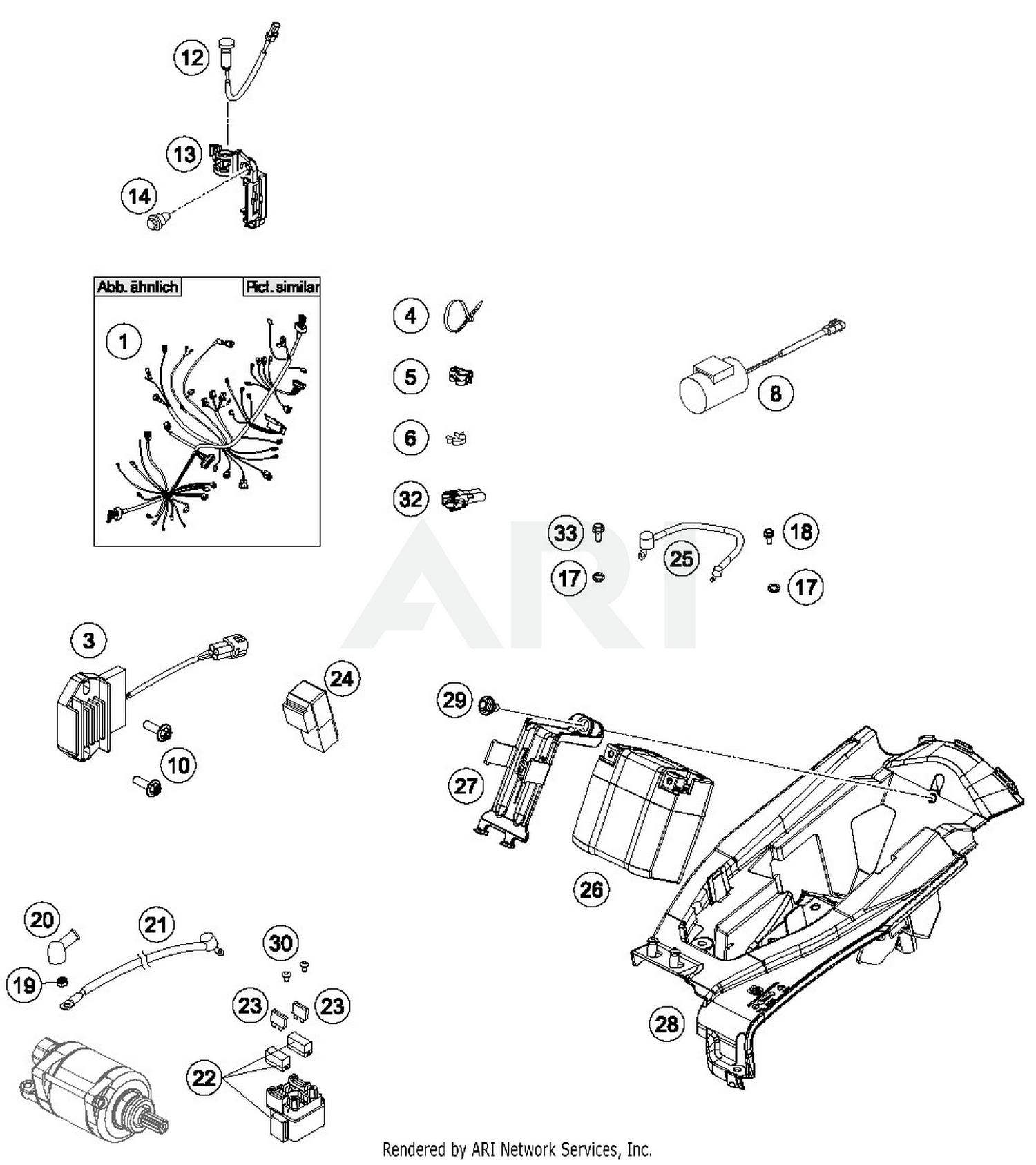 2017 Husqvarna FC 350 Wiring Harness Parts - Best OEM Wiring ... on