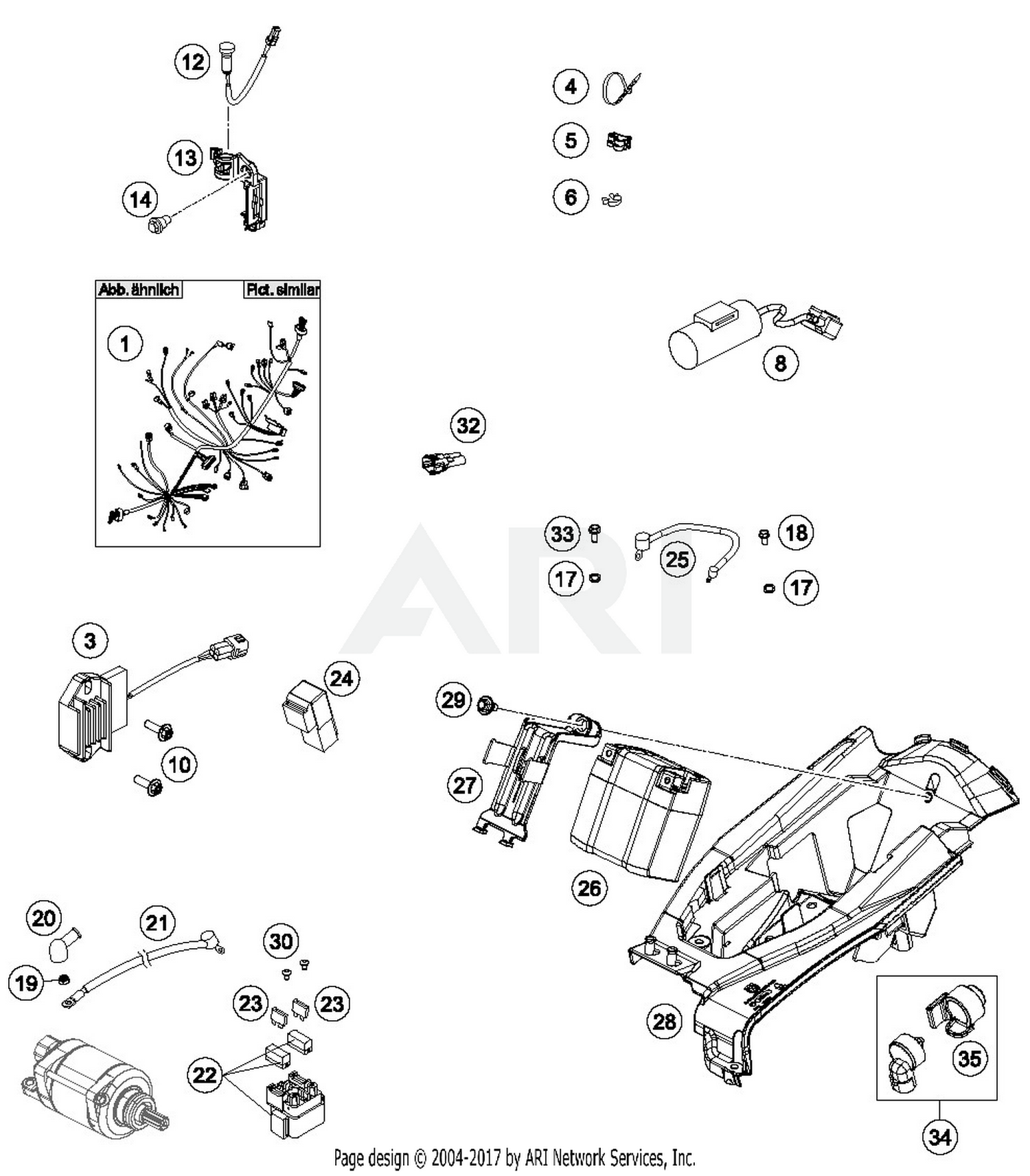 2016 Husqvarna Fc 450 Wiring Harness Parts Best Oem System Diagram For Motorcycles
