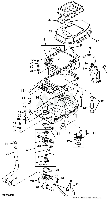 John Deere Lx40 Engine Parts Diagram   Running Engine Diagram ...