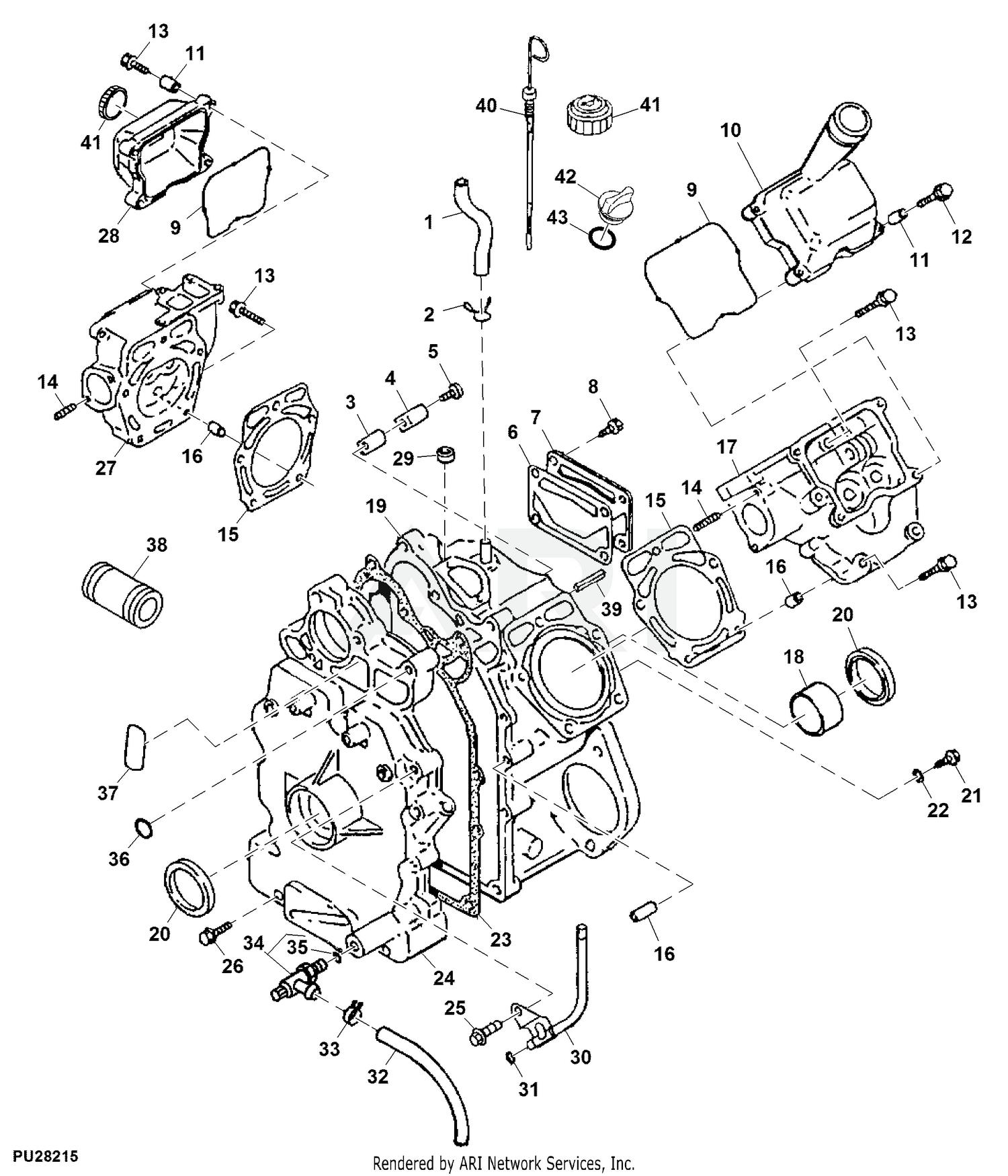 John Deere 445 Lawn & Garden Tractor -PC2351 1993 Model  M00445A010001-020000 (Two Wheel Steer) 445 Lawn & Garden Tractor -PC2351  1994 Model M00445C020001-030000 (Two Wheel Steer) 445 Lawn & Garden Tractor  -PC2351Weingartz