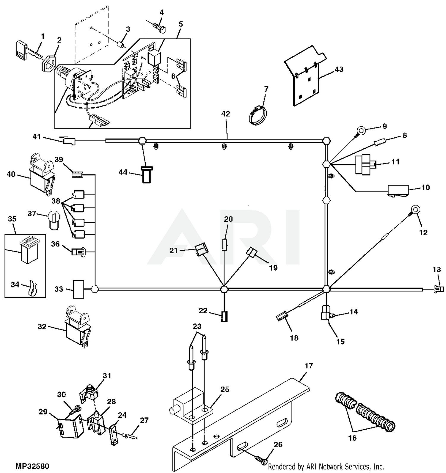 John Deere GX345 Lawn & Garden Tractor With 54-IN Convertible Mower Deck  -PC9078 2002 Model M0G345B105001-110000 GX345 Lawn & Garden Tractor With  54-IN Convertible Mower Deck -PC9078 2003 Model M0G345B110001-120000 GX345  Lawn | Gx345 Wiring Diagram |  | Weingartz
