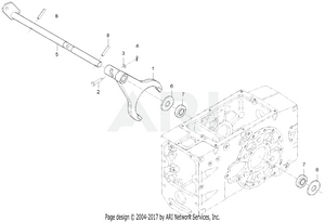 Transmission - Diff Lock Fork Group