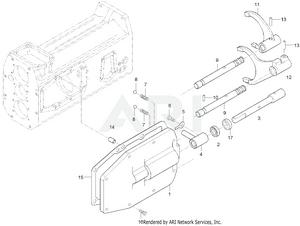 Transmission - Main Shift Fork Lever Group