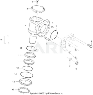 Front Axle - Bevel Gear Case Group