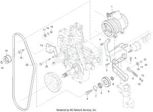 Engine - Compressor Bracket Group