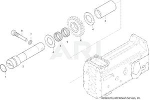 Transmission - Rear Shaft Group (364500003-)