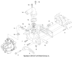 Engine - Water Flange Group