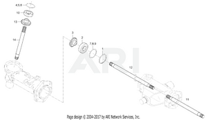 Front Axle -  Bevel Gear Shaft Group