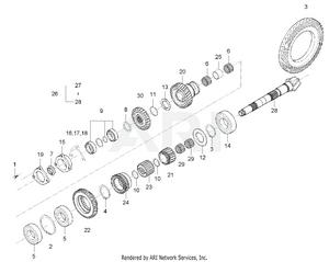 Transmission - Shaft, Spiral Bevel Group