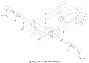 Front Axle - Steering Cylinder Group