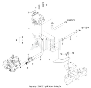 Engine-  Fuel Filter & Pipe Group