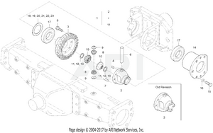 Front Axle - Front Diff System Group