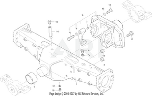 Front Axle - Front Diff Case Group