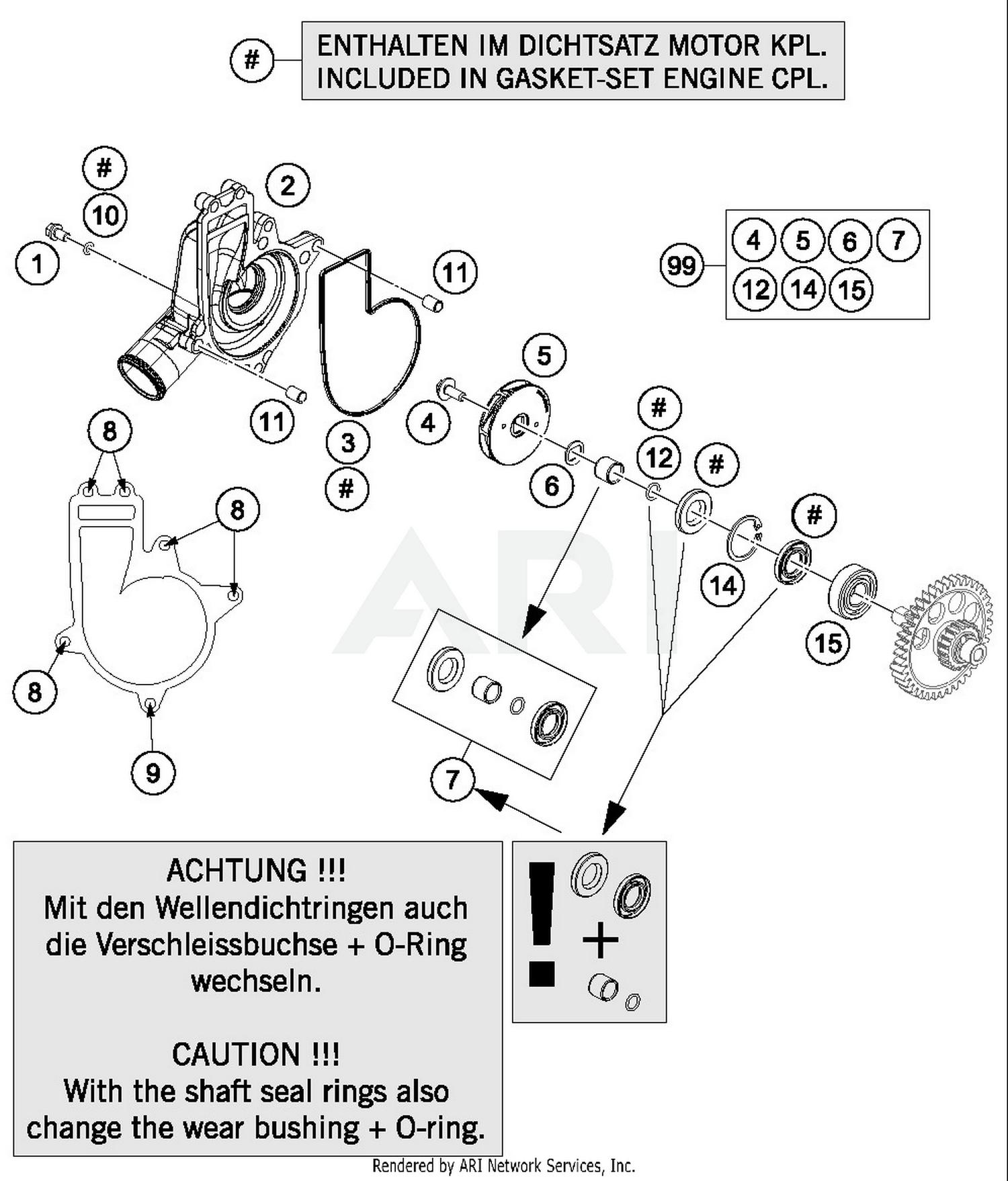 Abs Parts Diagram Wiring Schematics Motorcycle Engine 2016 Ktm 1190 Adventure Orange Water Pump Best Oem 1999 Silverado Controller