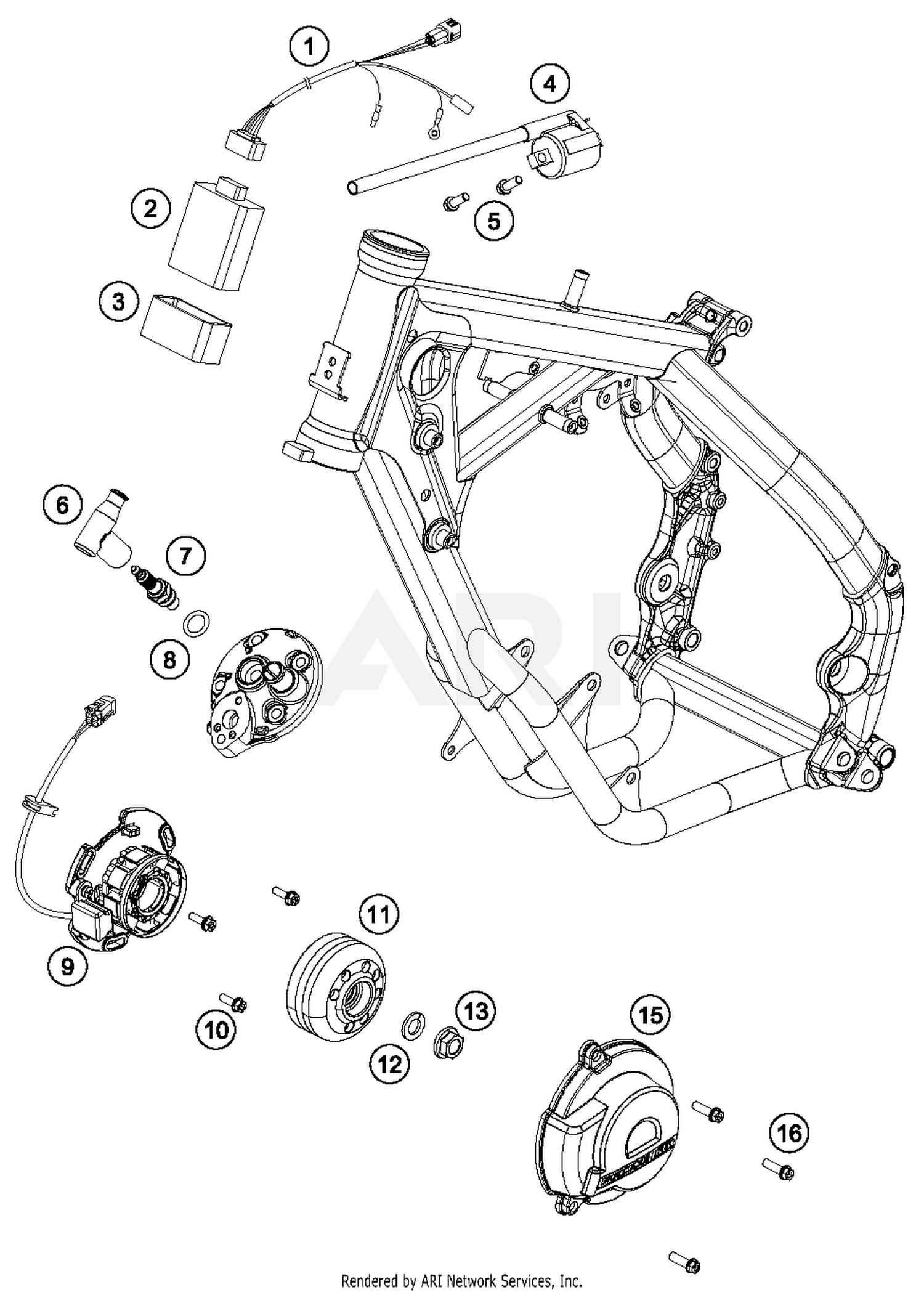2018 ktm 65 sx mini ignition system parts - best oem ignition system parts  diagram for 2018 65 sx mini motorcycles  bike bandit