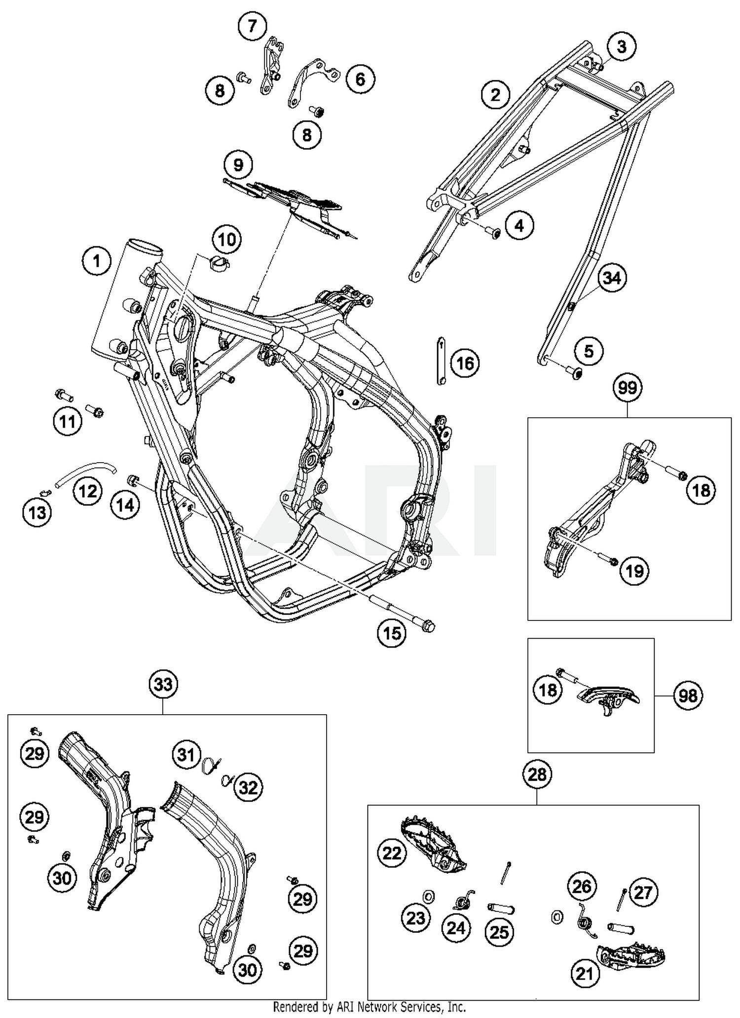 2017 Ktm 500 Exc F Frame Parts Best Oem Diagram Wiring Schematic Search Results 0 In Schematics