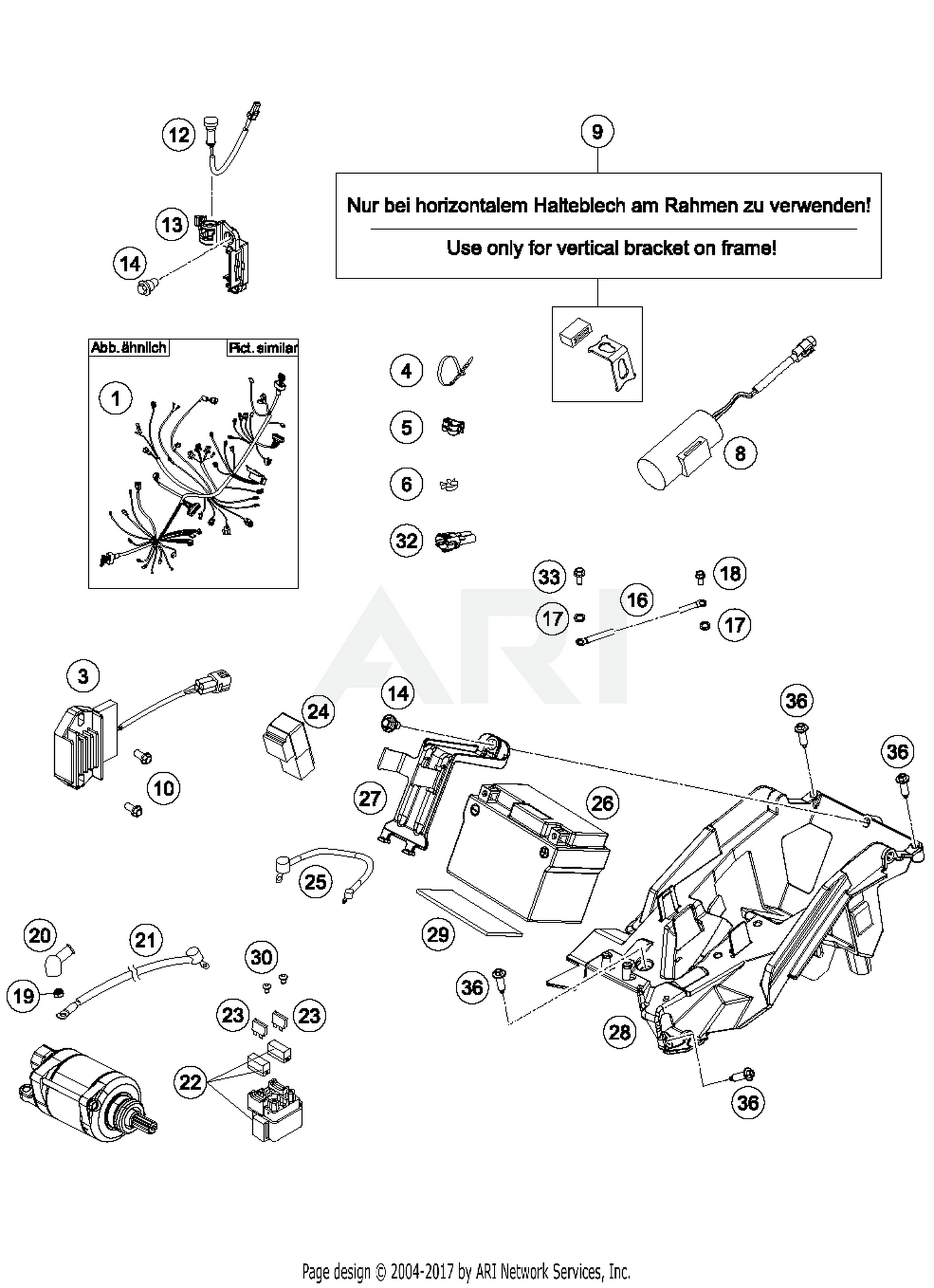 Ktm 58411097100 Best Price On Ground Cable D6mm L140mm 97 520 Sx Wiring Diagram Part 16 Quantity Required 1