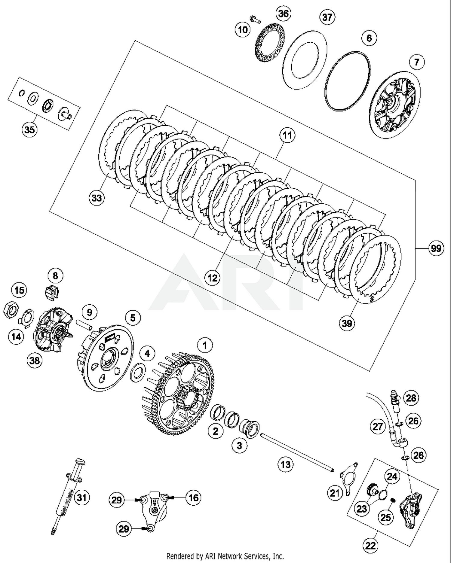 Ktm 500 Clutch Diagram Enthusiast Wiring Diagrams Engine 2017 Exc F Parts Best Oem For Rh Bikebandit Com Dirt Bikes