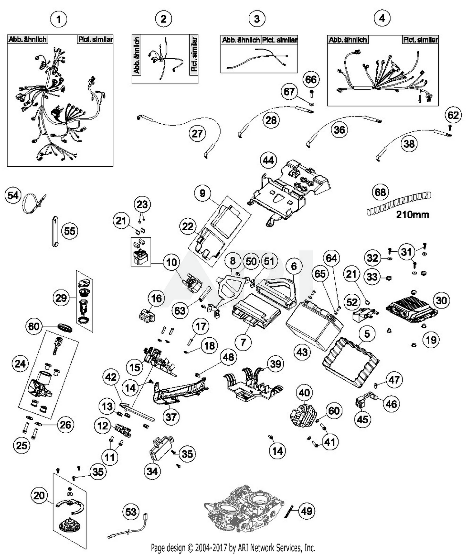 Ktm 60342090000 Best Price On Sloping Positions Sensor Parts 1190 Adventure Wiring Diagram 2016 Abs Orange Harness Part 12 Quantity Required 1