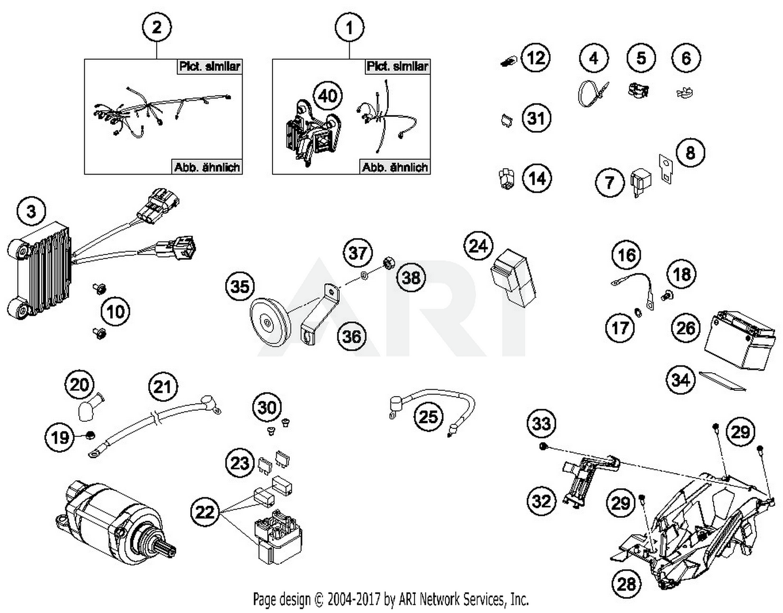 2017 ktm 450 exc-f six days us wiring harness parts - best oem wiring  harness parts diagram for 2017 450 exc-f six days us motorcycles  bike bandit