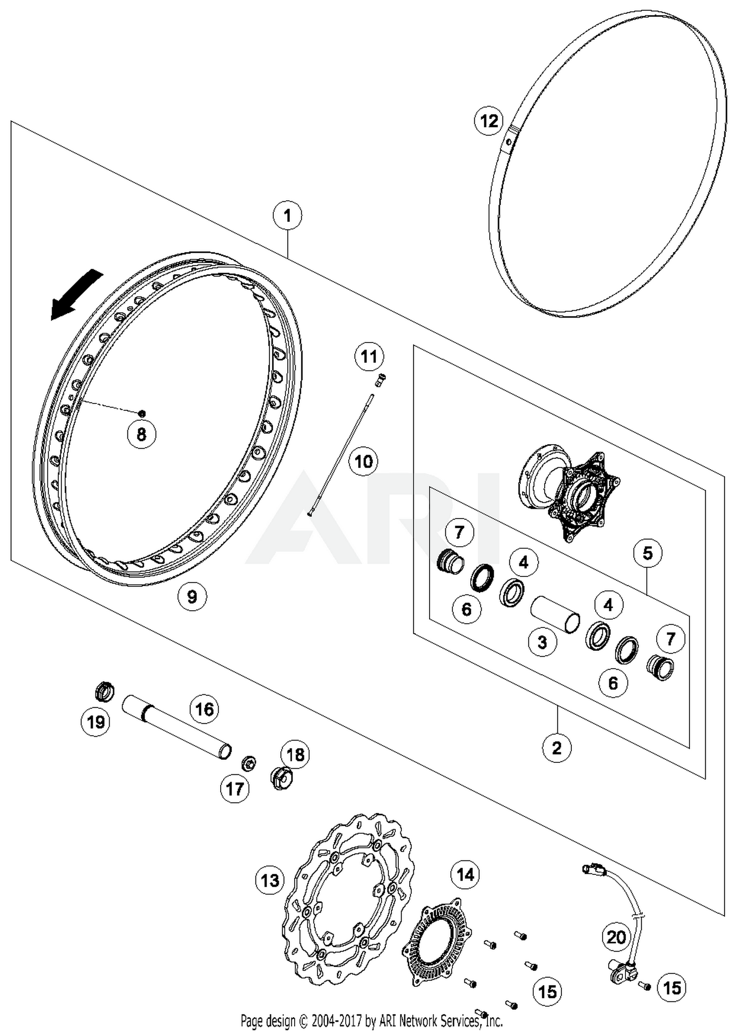 Ktm 54809081070 Best Price On Auxiliary Screw Front 06 Parts Wiring Diagram 2006 200 Exc Part 17 Quantity Required 1