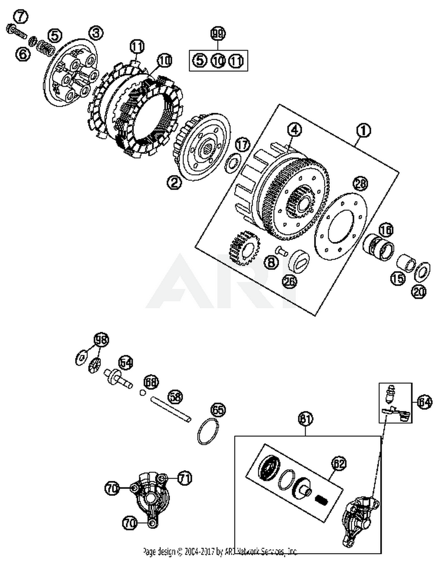 ktm 47032002000 best price on ktm inner clutch hub 85 sx parts at rh bikebandit com XC vs KTM 105 SX KTM Motorcycles 2013