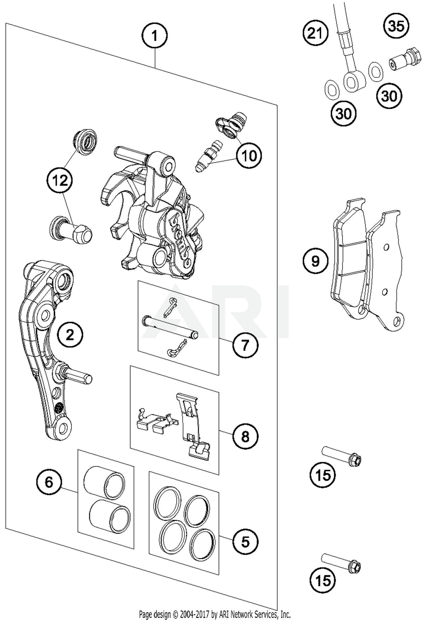 2018 Ktm 500 Exc F Eu Brake Caliper Front Parts Best Oem Wiring Diagram Schematic Search Results 0 In Schematics