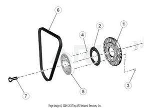 LM Trac 387 Pulleys and belt
