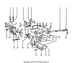 LM Trac 285 Fuel system linkage
