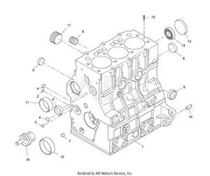 LM Trac 287 Engine block